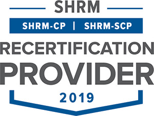 SHRM Recertification Provider CP SCP Seal 2019